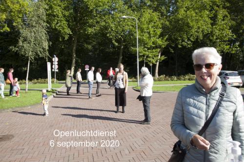 Openluchtdienst op 6 september 2020